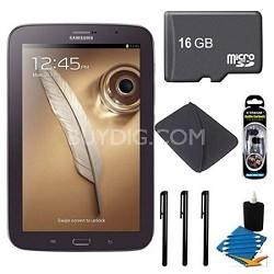 "8"" Galaxy Note 8.0 16GB Brown Tablet 16GB Bundle"