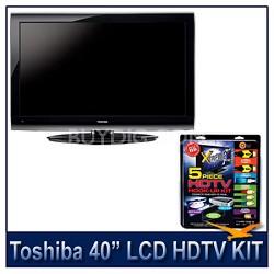 "40E200U 40"" 1080p LCD HDTV + High-performance HDTV Hook-up & Maintenance Kit"