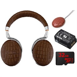 Zik 3 Wireless Noise Cancelling Bluetooth Headphone Ultimate Bundle (Brown Croc)