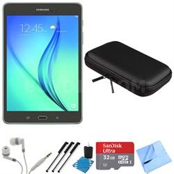 Galaxy Tab A 8-Inch Tablet (16 GB, Smoky Titanium) 32GB Memory Card Bundle