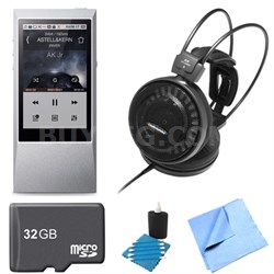 AK Jr. Hi-Res 64GB Music Player ATH-AD500X Audophile Open-Air Headphone Bundle