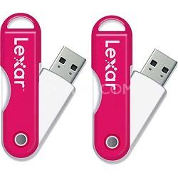 JumpDrive TwistTurn 16 GB High Speed USB Flash Drive (Pink) 2-Pack (32GB Total)
