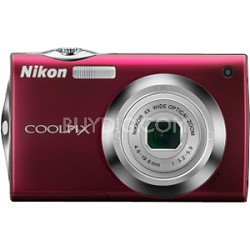 COOLPIX S4000 Digital Camera (Red)