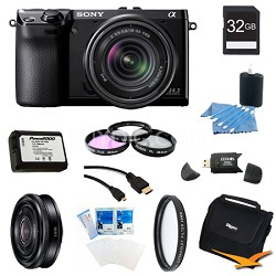 NEX-7K/B Compact Camera with 18-55 Lens 32GB 20mm f 2.8 Ultimate Bundle