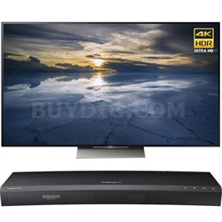 75-Inch Class 4K HDR Ultra HD TV - XBR-75X940D w/ Samsung Disc Player