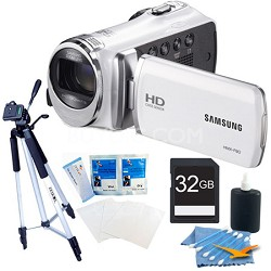 HMX-F90 52X Optimal Zoom HD Camcorder - White 32GB Bundle