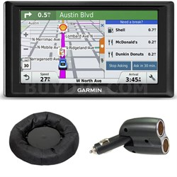 Drive 60LM GPS Navigator (US and Canada) 010-01533-07 Mount + Car Charger Bundle