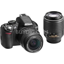 Refurbished D3100 14MP 1080P Digital SLR w/ 18-55mm & 55-200mm AF-S Lenses