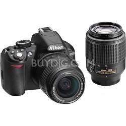 Refurbished D3100 14MP 1080P Digital SLR w/ 18-55mm & 55-200mm AF-S Lenses