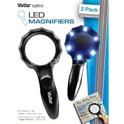 Optics LED Magnifiers 2 pack led magnifier set large and medium.
