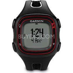 Forerunner 10 GPS Running Watch (Black/Red) Refurbished w/ 1 YR. Garmin Warranty