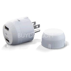 PCHUSB2R Portable 2 Outlet USB Charger for iPod/iPhone/BBerry & Other Devices