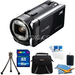 "GZ-GX1BUSM HD Everio Camcorder 3.5"" Touchscreen 10x Zoom f1.2  WiFi 16GB Bundle"
