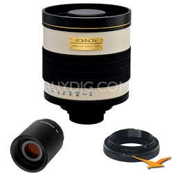 800mm F8.0 Mirror Lens for Olympus / Panasonic with 2x Multiplier (White) 800M