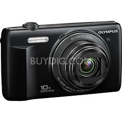 VR-340 16MP 10x Opt Zoom 3-inch LCD Digital Camera - Black