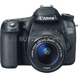 EOS 70D 20.2 MP CMOS Digital SLR Camera w/ EF-S 18-55mm F3.5-5.6 IS STM Lens Kit