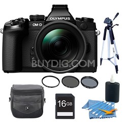 OM-D E-M1 Compact System Camera with 12-40mm Lens Black Kit