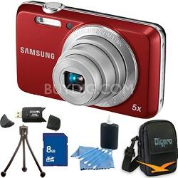 ES80 12MP Red Digital Camera 8 GB Bundle