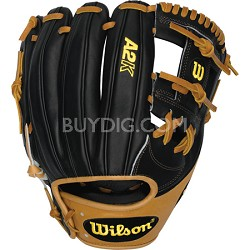 "A2K Infield 11.75"" Baseball Glove - Black/Tan, Right Hand Throw"