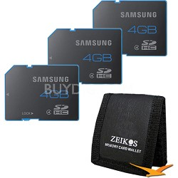 Solid Mobile 4GB Class 4 SD Memory Card - 3-Pack Bundle