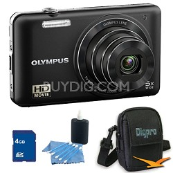 4GB Kit VG160K 14MP 5x Opt Zoom Black Digital Camera - Black