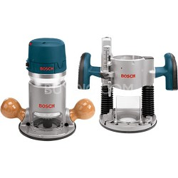 2.25 HP Electronic VS Plunge and Fixed-Base Router Combo Kit