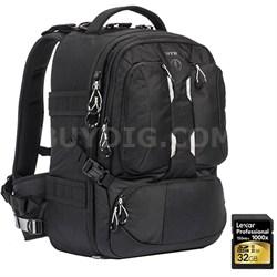 ANVIL 23 Photo DSLR Camera and Laptop Backpack (Black) + 32GB Memory Card