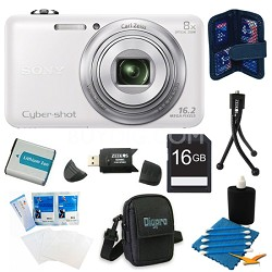 DSC-WX80 16 MP 2.7-Inch LCD Digital Camera White Kit