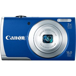 PowerShot A2600 Blue 16MP Digital Camera with 5x Optical Zoom, 720p HD Video
