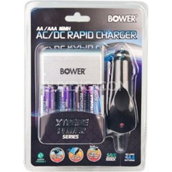 AA Rapid Multivoltage AC/DC Charger (100-240v) w/ 4 2900mah AA Batteries