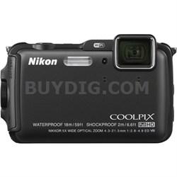 COOLPIX AW120 16MP 1080p Waterproof Black Digital Camera - REFURBISHED