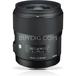 Art Wide-angle lens -AF 35mm F1.4 DG DG HSM Lens for Nikon - OPEN BOX