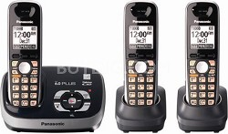 KX-TG6533B DECT 6.0 Plus Expandable Digital Cordless Answering System