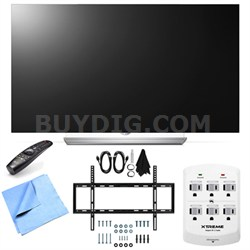 55EF9500 - 55-Inch 2160p Smart 3D Flat OLED TV Mount & Hook-Up Bundle