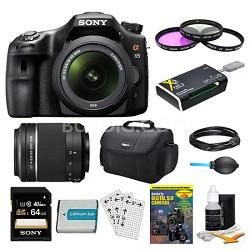 SLTA65VL DSLR 24.3MP 18-55mm Zoom SLR Black Camera 55-200mm 64GB Bundle
