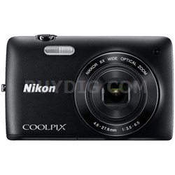 COOLPIX S4200 16MP 3-inch Touch Screen Digital Camera (Black) Refurbished