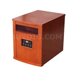 Comfort Glow Infrared Quartz Heater in Oak - QEH1500