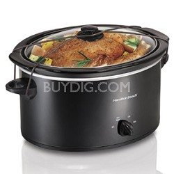 33256 5-Quart Portable Oval Slow Cooker