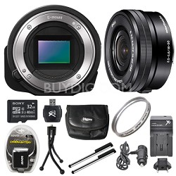ILCE-QX1/B Interchangeable Lens Style Camera with 16-50mm Lens 32GB Bundle