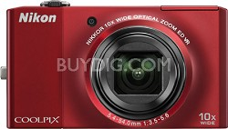 COOLPIX S8000 14.2 Megapixel Digital Camera (Red)