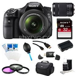 Alpha SLT-A58K Digital SLR Camera 32 GB 55-300mm Lens Bundle