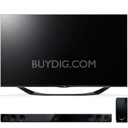 """55"""" 1080p 3D Smart TV 120Hz Dual Core 3D Edge LED TV with Sound Bar"""