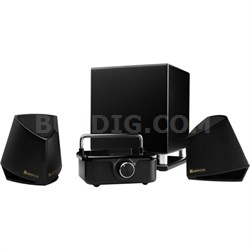 X100 Hi-Fi Desktop Audio System with Amplifier, 2 Speakers, Subwoofer