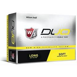 Premium Staff DUO 12-Pack Yellow Golf Balls