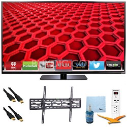 "E500i-B - 50"" LED Smart HDTV 1080p HD 120Hz Plus Tilt Mount & Hook-Up Bundle"