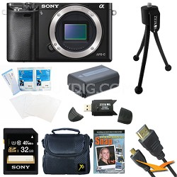 Alpha a6000 24.3MP Interchangeable Lens Camera Body Only 32GB Kit