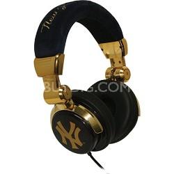 Limited Edition Baseball Team Logo DJ Style Headphones - New York Yankees