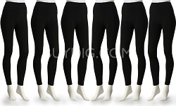 6-Pack Ezi JD-151 Fleece Lined Leggings