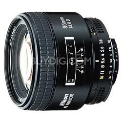 85mm F/1.8D AF Nikkor Lens, With Nikon 5-Year USA Warranty
