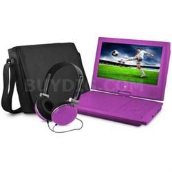 "9"" DVD Player Bundle Purple"